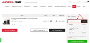 danube home discount code